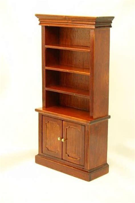 dollhouse miniature cherry bookshelves bookshelf with