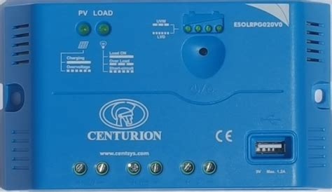 Load Shedding Centurion centurion solar charge controller 20a