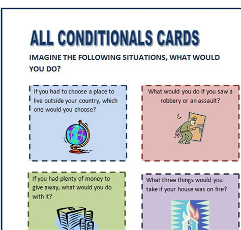 All Conditional Sentences Speaking Cards