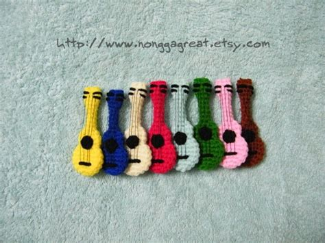 amigurumi guitar pattern pdf crochet pattern ukulele little guitar 3 50 via