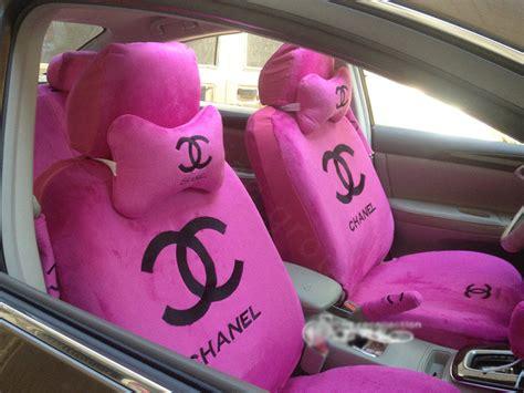 pink plush seat covers buy wholesale funky chanel universal plush velvet auto car