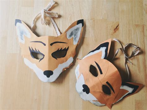 How To Make A Fox Mask Out Of Paper - oh whimsical me a few last minute costume ideas