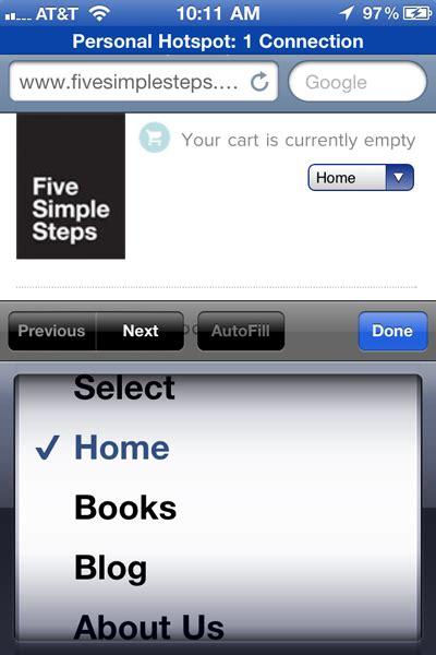 convert a menu to a dropdown for small screens css tricks
