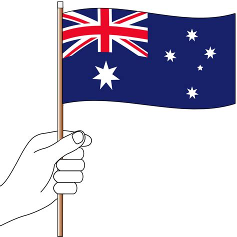australia colors flag australian flag handwaver flagworld flags