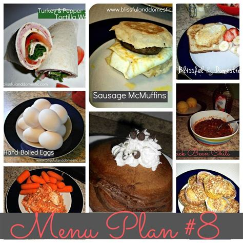printable breakfast recipes weekly meal plan 8 all printable with recipes too