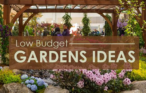 Low Budget Garden Ideas Low Maintenance Gardens Ideas On A Budget Ideal Home Improvements Info Ideas