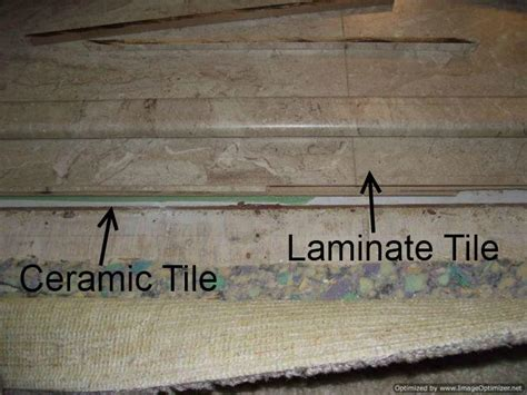 install laminate flooring over ceramic tile