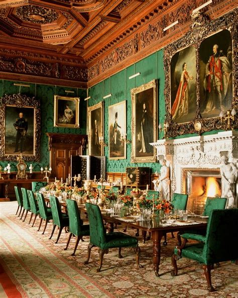 castle dining room inside the alnwick castle northumberland england uk