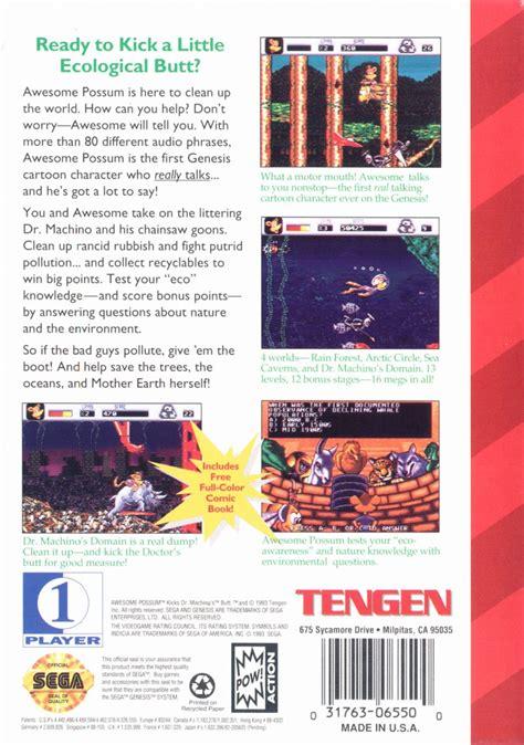 awesome possum genesis awesome possum kicks dr machino s 1993 genesis box