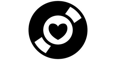 imagenes para logos musicales s 237 mbolo de colector m 250 sica de un disco con un coraz 243 n en