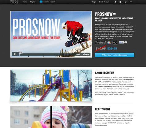 final cut pro x plugins final cut pro x effect prosnow released by pixel film