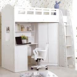 White Loft Bed With Desk Underneath by Best 25 Bed With Desk Underneath Ideas On