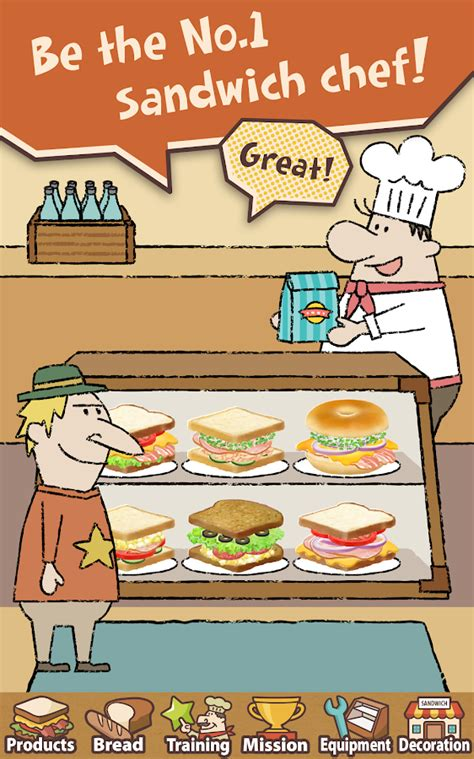 happy sandwich cafe android apps  google play
