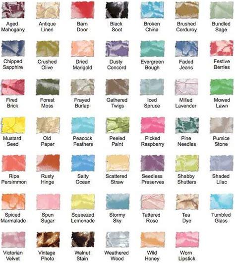 distress ink color chart tim holtz distress mini ink pad color chart