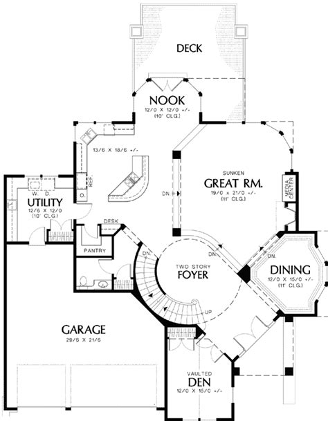 adhouse plans luxurious design with circular staircase 69239am