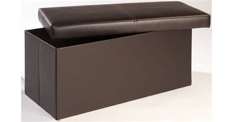 brown faux leather ottoman madrid storage ottoman footstool brown faux leather