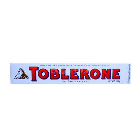 Toblerone Chocolate 100 Gr toblerone swiss white chocolate with honey and nougat 100g