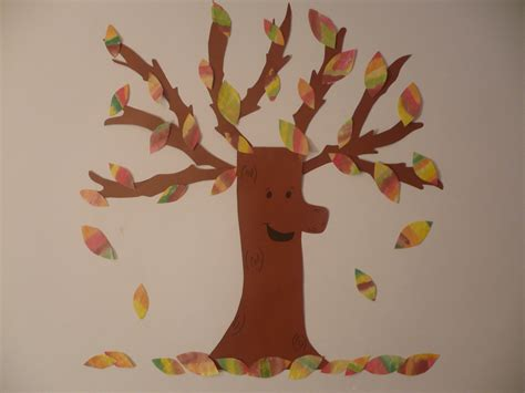 Construction Paper Crafts For Preschoolers - coffee filter fall tree family crafts