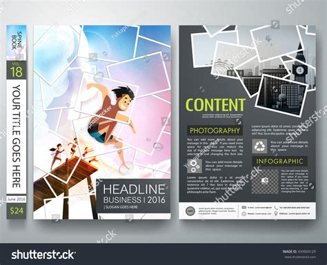 Brochure Design Template Vector Photography Flyers Stock Vector 439909129 Shutterstock Collage Flyer Template