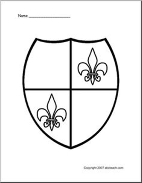 coloring page of a knight s shield 1000 images about fairy tale themed classroom on