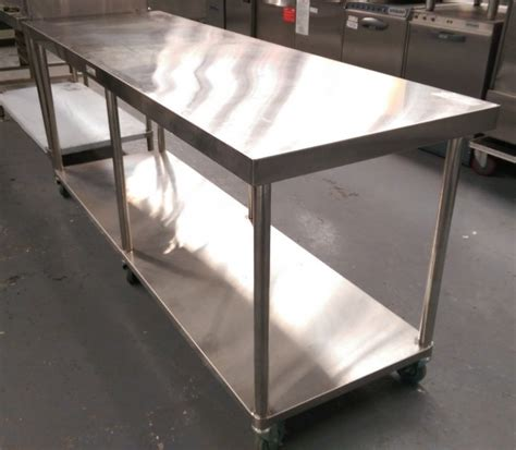 used stainless steel benches used simply stainless 2100mm mobile work bench