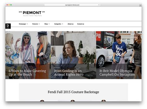 top home blogs 20 best fashion blog magazine wordpress themes 2018