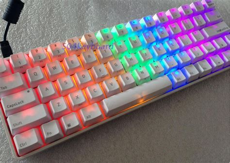 Pensiljoyko Mechanical Mekanik Pc aliexpress buy shining white pbt keycap oem height mechanical keyboard cherry mx switch