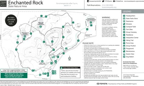 enchanted rock texas map friends of enchanted rock