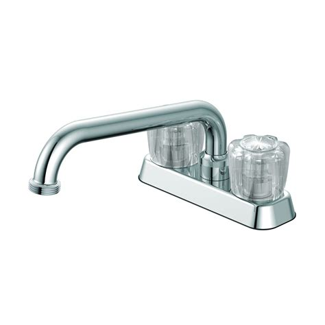 wash tub faucet shop project source chrome 2 handle utility faucet at