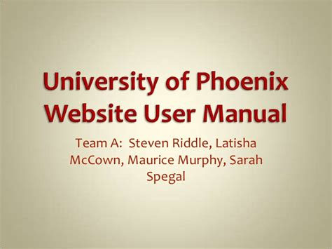 Powerpoint Templates University Of Phoenix | presentation university of phoenix uers manual