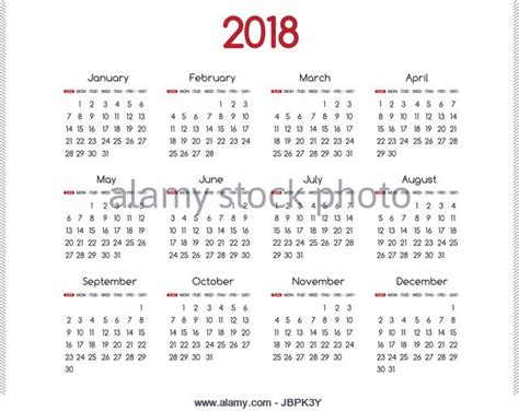 Calendar 2018 Photos 2018 Calendar Simple Vector Calendar Stock Photos 2018