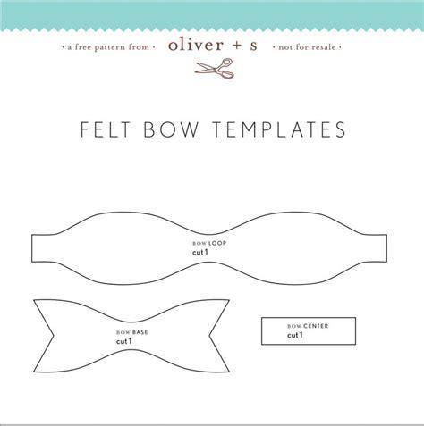 felt templates passo a passo e moldes de lacinhos de feltro felting