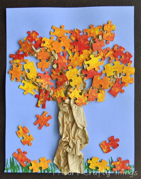 Fall Paper Crafts - fall tree craft i crafty things