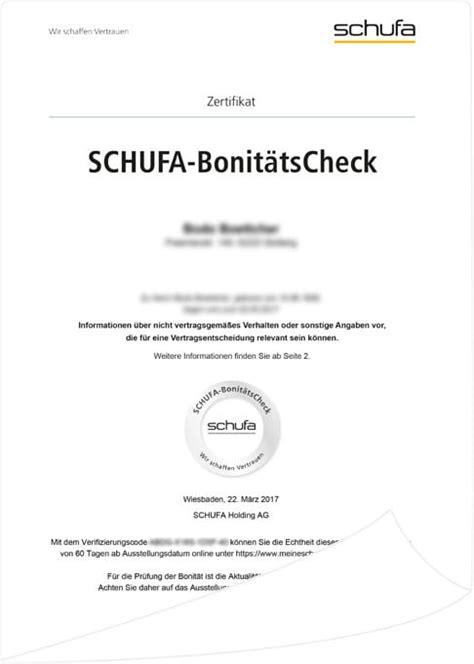 Was Steht In Der Schufa Für Vermieter by Schufa Bonit 228 Tscheck Digitale Auskunft Electronic Minds