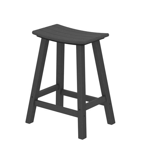 traditional counter height bar stool by polywood polywood 174 traditional 24 inch tall saddle counter stool