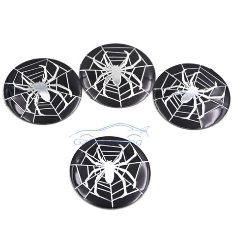 Bmw Sticker 56 Mm by 56mm Spider Logo Araneae Black Color Car Modified Sticker