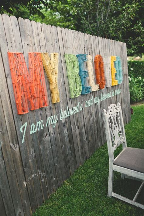 Outdoor Fence Decor by How To Beautify Your House Outdoor Wall D 233 Cor Ideas