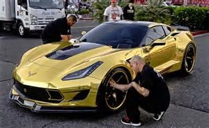new gold car gold at sema 2014 new cars