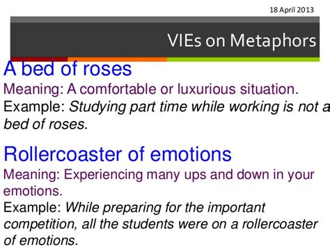 comfortable mean vi es on metaphors