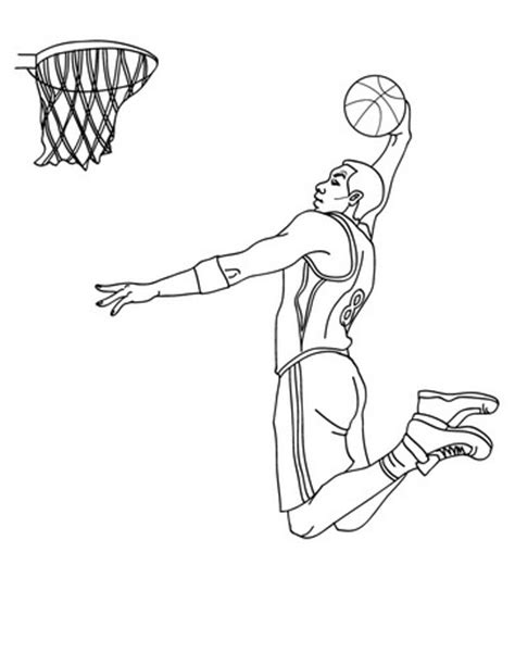 Basketball Player Coloring Pages basketball coloring