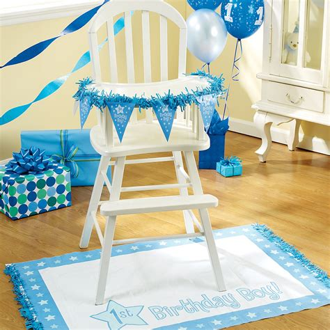 Birthday Decoration Ideas For Boy by Cheap One Special Boy 1st Birthday High Chair Decorating Set At Go4costumes