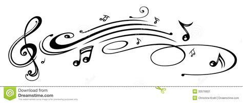music music notes clef stock image image 33576601