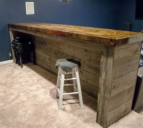 building bar top man cave wood pallet bar free diy plans
