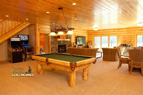 Ranch House Floor Plans With Basement by Golden Eagle Log And Timber Homes Log Home Cabin