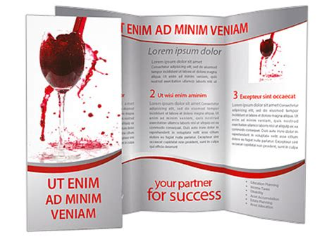 wine brochure template wine splashing brochure template design id 0000001434 smiletemplates