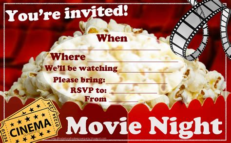 printable birthday invitations movie theme free invitations for sleepover party
