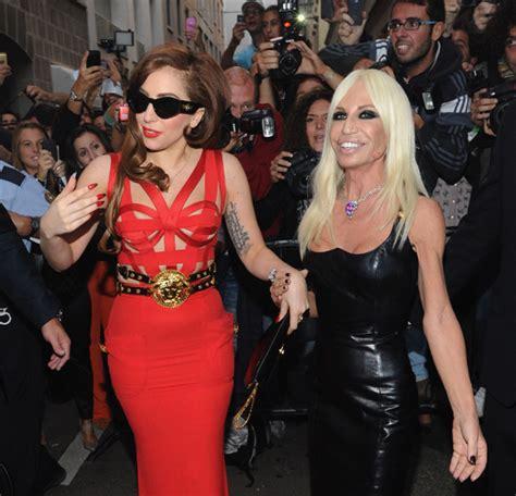 Donatella Versace To Design The Next Spice Tour Wardrobes Catwalk by Gaga With Fashion Designer Donatella Versace In Milan
