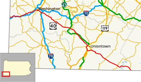 map of the us highway 40 file u s route 40 in pennsylvania map svg