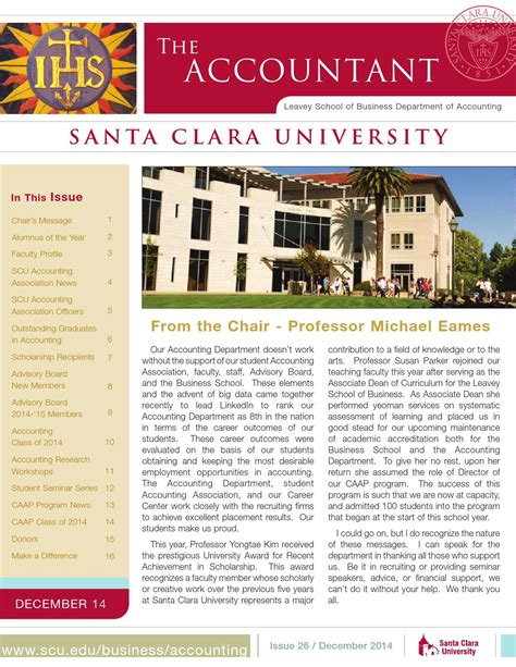 Santa Clara Mba Scholarship by Accountant 2014 By Santa Clara Issuu