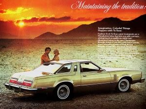 car manuals free online 1977 ford thunderbird engine control 1977 ford thunderbird promo picture classic cars today online